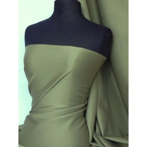 Khaki Scuba 4 Way Stretch Poly Lycra Q792 KH