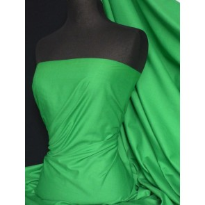 Leaf Green Poly Cotton Fabric Material Q460 LFGR