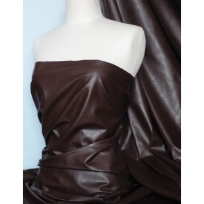 Brown Leatherette Fabric PVC Faux Leather Material Q623 BR
