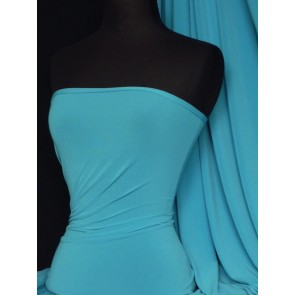 Turquoise 4 Way Stretch Soft Touch Jersey Fabric Q36 TQ