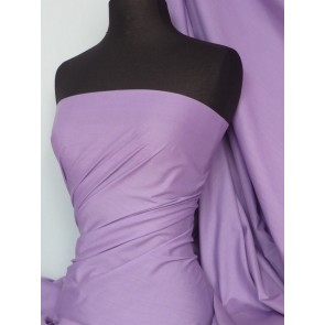 Lilac Poly Cotton Fabric Material Q460 LLC