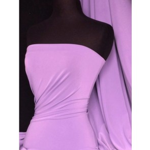 Lilac silk touch 4 way stretch jersey Lycra Q53 LIL