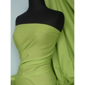 Lime Poly Cotton Fabric Material Q460 LM