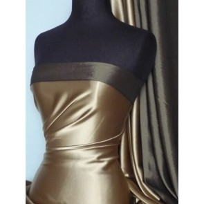 Matt Gold Medium Weight Satin Fabric Q243 MTGLD