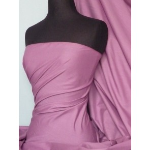Mauve Poly Cotton Fabric Material Q460 MAU