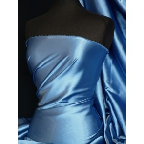 Mid Blue Super Soft Satin Fabric Q710 MDBL