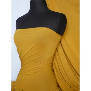 Mustard Viscose Cotton Stretch Lycra Q300 MSTD