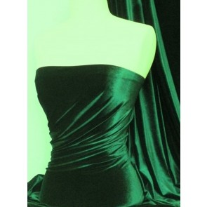 Bottle Green Micro Velvet Velour Fabric Luxuriously Soft Velvet MVEL22 BTGR