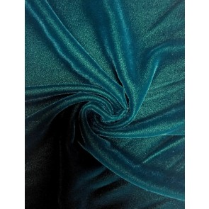 Teal Micro Velvet Velour Fabric Luxuriously Soft Velvet MVEL22 TL