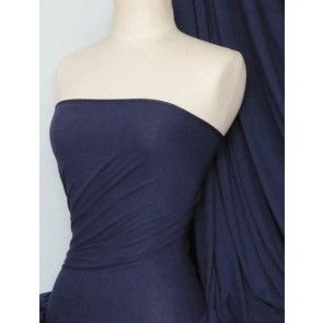 Navy heavy viscose cotton stretch lycra fabric Q896 NY