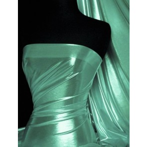 Marine Blue Wet Look Foil Stretch Lycra Fabric NG253 MRBL