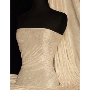 Nude Crushed Velvet/ Velour Stretch Fabric Q156 ND