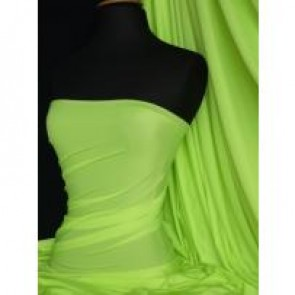 Bright lime 4 way stretch shiny lycra sabric material