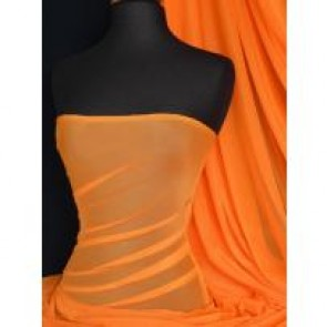Orange power mesh 4 way stretch fabric material