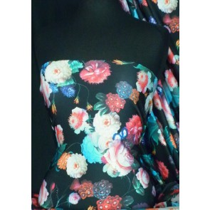 Multi Floral Scuba Stretch Poly Lycra Fabric Q1286 MLT