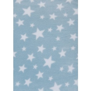 Baby Blue Twinkle Polar fleece- Anti Pill Washable Soft PF227 BBLWHT