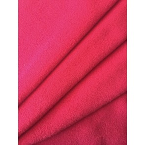 Clearance (187 cms) Red Non-Anti Pill Polar Fleece Stretch Sports Fabric PF3 RD