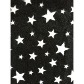 Black Twinkle Polar fleece- Anti Pill Washable Soft PF227 BKWHT