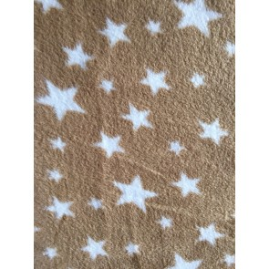 Cappuccino Twinkle Polar fleece- Anti Pill Washable Soft PF227 CPWHT