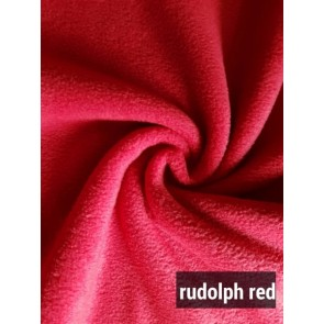 Rudolph Red Super Soft Polar Fleece- Anti Pill Washable Soft Fabric PF RDL
