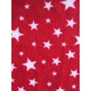 Red Twinkle Polar fleece- Anti Pill Washable Soft PF227 RDWHT