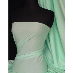 Mint Poly Cotton Fabric Material Q460 MNT