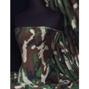 Khaki/Brown Camouflage Polar Fleece Anti Pill Machine Washable Q41 KHBR