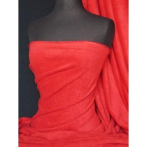 Red Polar Fleece - Anti Pill Washable Soft Fabric PF_RD