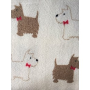 Scottie Terriers Polar Fleece Anti Pill Washable Soft Fabric PPFL49 IVMCH