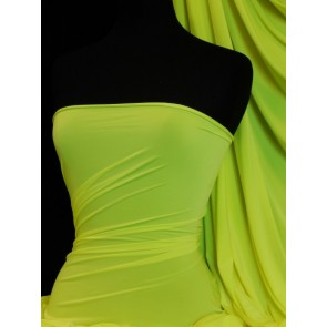 Neon Yellow Peach Skin Soft Touch Drape Dress Fabric PSK208 NYL