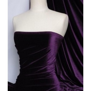 Purple velvet /velour 4 way stretch spandex lycra 130TK