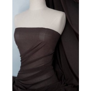 Chocolate Brown Corsetry Power Mesh Stretch Fabric Q107 CHOC