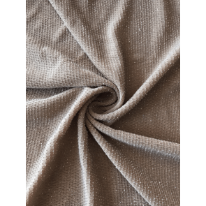 Mocha Slinky Shimmer 4 Way Stretch Fabric Q1183 MCH