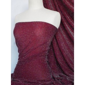 Red Wine Slinky Shimmer 4 Way Stretch Fabric Q1183 RDWN