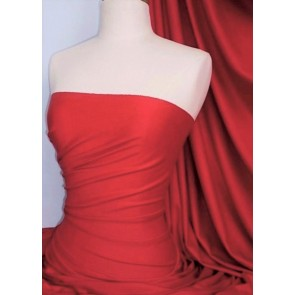 Red Cotton Lycra Jersey Stretch Fabric Q35 RD