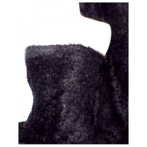 Black Poodle Faux Imitation Fur Fabric Q1260 BK