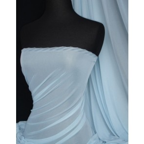Ice Blue Fine Mesh Sheer Fabric Q1262 ICBL