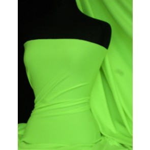 Neon Green Marcy 4 Way Stretch Poly Lycra Fabric Q1336 NGRN