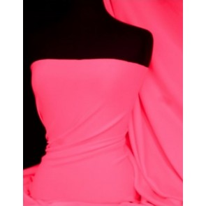 Neon Pink Marcy 4 Way Stretch Poly Lycra Fabric Q1336 NPN