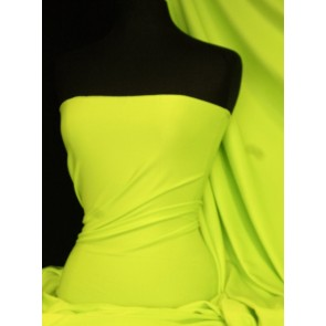 Neon Yellow Marcy 4 Way Stretch Poly Lycra Fabric Q1336 NYL