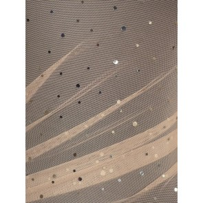 Skin Power Mesh 4 Way Stretch Silver Sequins Fabric Q1379 SKSLV
