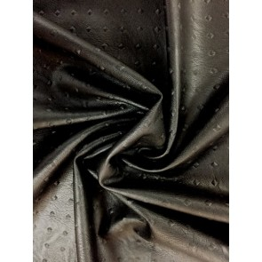 Black Faux Leather Embossed Rivet Pattern Upholstery/Jacket PVC Fabric Q1390 BK