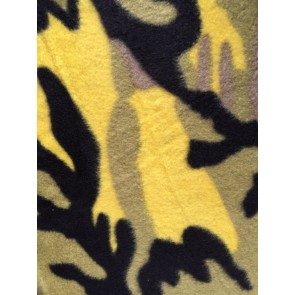 Camouflage Lime Polar Fleece Anti Pill Washable Soft Fabric Q1402 LMBK