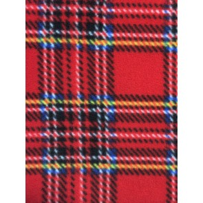 Old School Tartan Red/Multi Polar Fleece Anti Pill Washable Soft Fabric Q1406 RDMLT