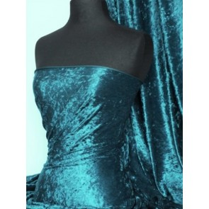 Blue Diamond Crushed Velvet/ Velour Stretch Fabric Q156 BDMN