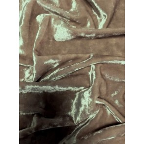 Mocha Brown Crushed Velvet/ Velour Stretch Fabric Q156 MCHBR