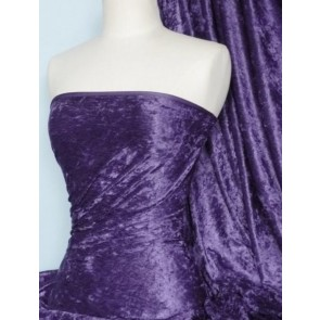 Mauve Crushed Velvet/ Velour Stretch Fabric Q156 MVE