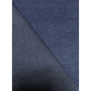 Midnight Navy Cotton Fleece Backed Sweatshirt Fabric Material Q237 MDNY