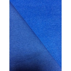 Royal Blue Cotton Fleece Backed Sweatshirt Fabric Material Q237 RBL