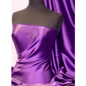 Purple Medium Weight Satin Fabric Q243 PPL